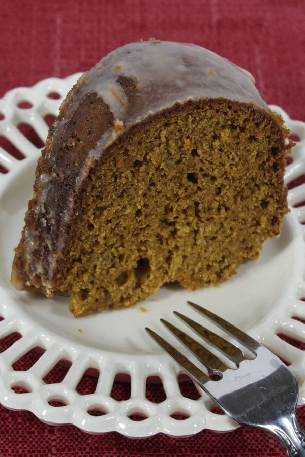 slice of pumpkin bread cake