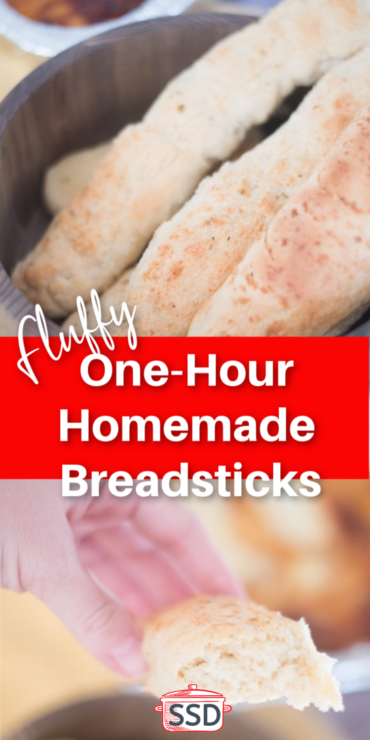 These one-hour homemade breadsticks are so easy to make and are the perfect addition to any meal! / Fast Breadsticks / Easy Breadsticks / Quick Breadsticks / Homemade Breadsticks  via @simplysidedishes89