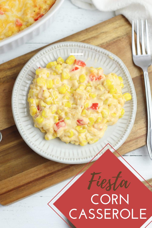 Easy Fiesta Corn Casserole Recipe - such a delicious and easy side dish #mexican #fiesta #sidedish via @simplysidedishes89