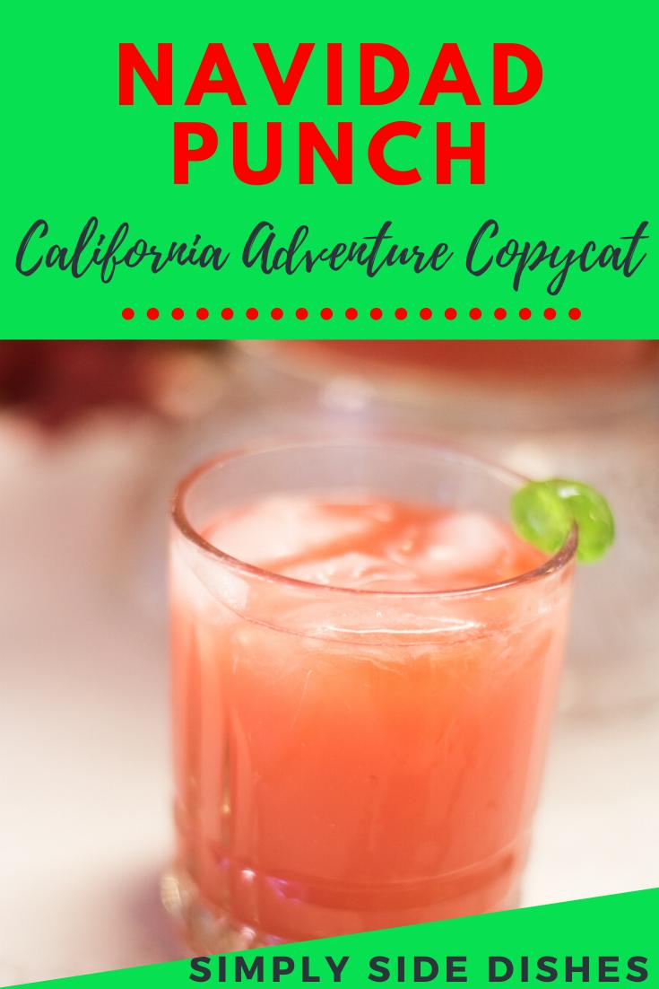 Navidad Punch - California Adventure Copycat - California Adventure Festival of Food Copycat Recipes via @simplysidedishes89