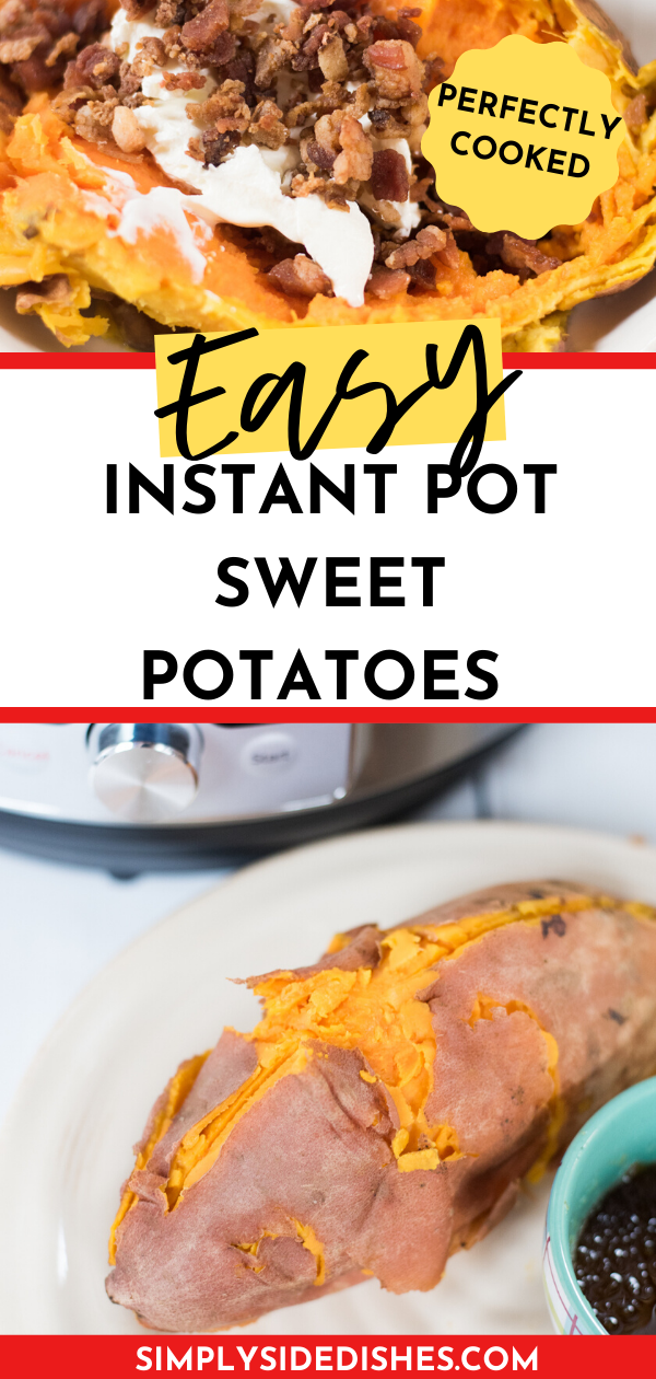 Make Instant Pot sweet potatoes in NO time! This fast and easy method will have you eating these highly nutritious vegetables in no time. via @simplysidedishes89