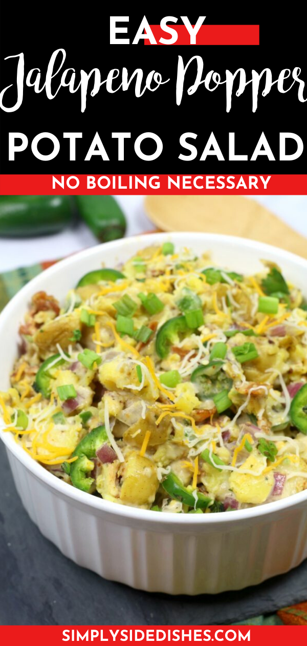 This Easy Jalapeno Popper Salad is SO delicious - it's the perfect game day side dish! via @simplysidedishes89