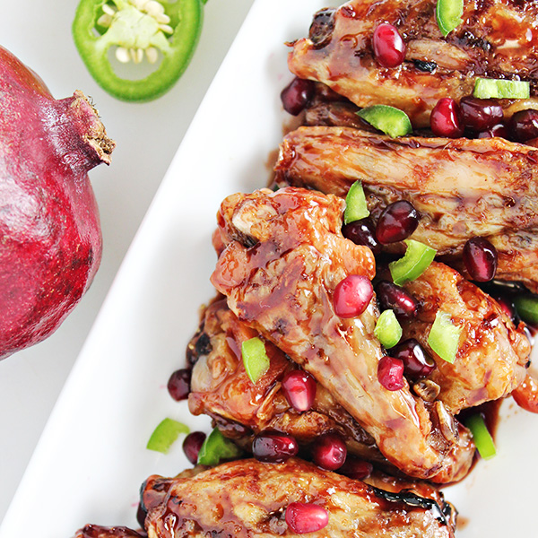 Pomegranate Jalapeno Chicken Wings Recipe