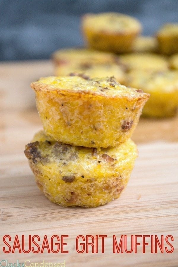 Sausage and Bacon Grits Muffins
