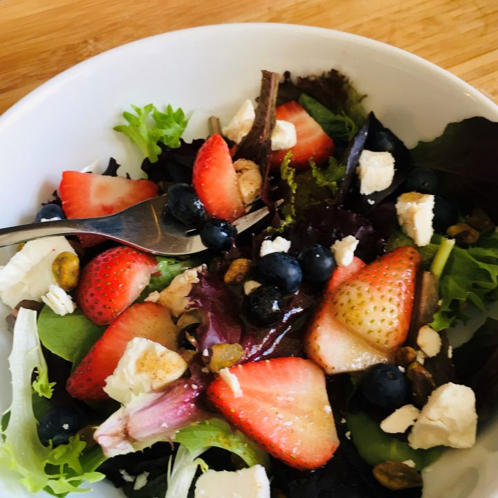 Sweet Green Salad with Cinnamon Honey Vinaigrette
