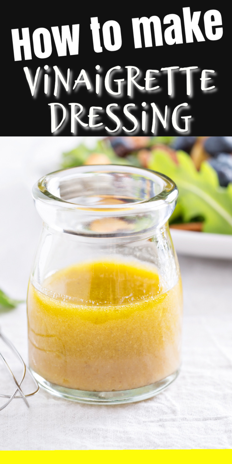 How to make a vinaigrette dressing from scratch - super easy tips and tricks for a delicious dressing! via @simplysidedishes89