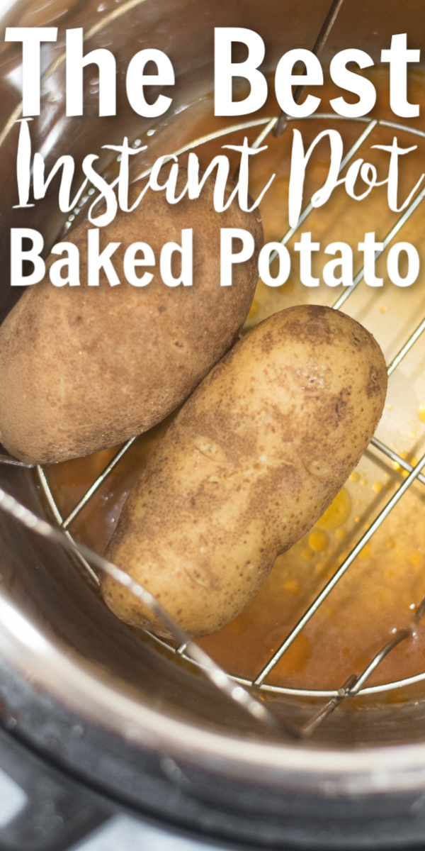 Baked Potatoes are a cheap and easy menu item that tastes delicious! And now it's even easier to make in your Instant Pot! via @simplysidedishes89