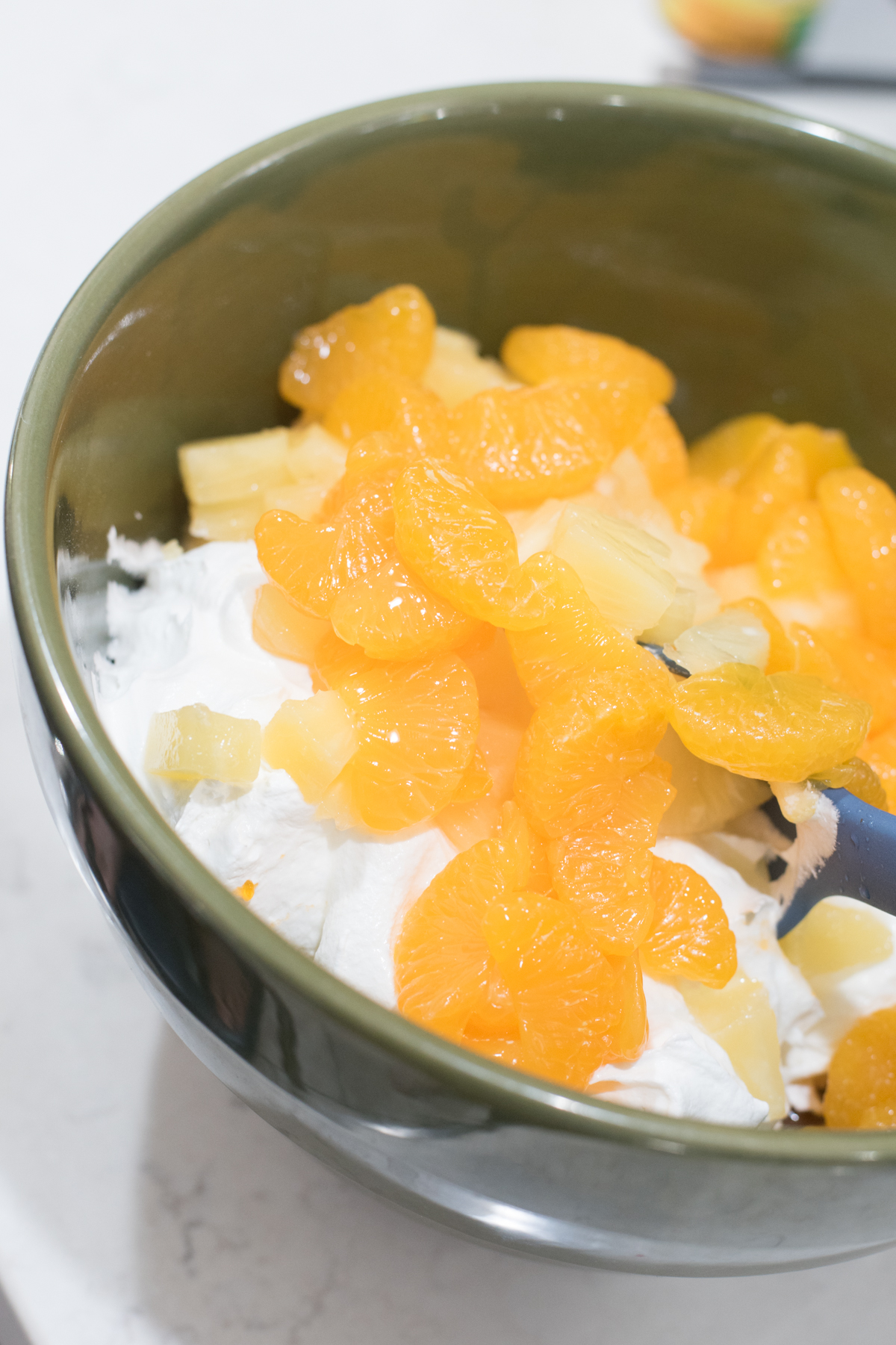 orange jello with mandarin oranges and pineapple