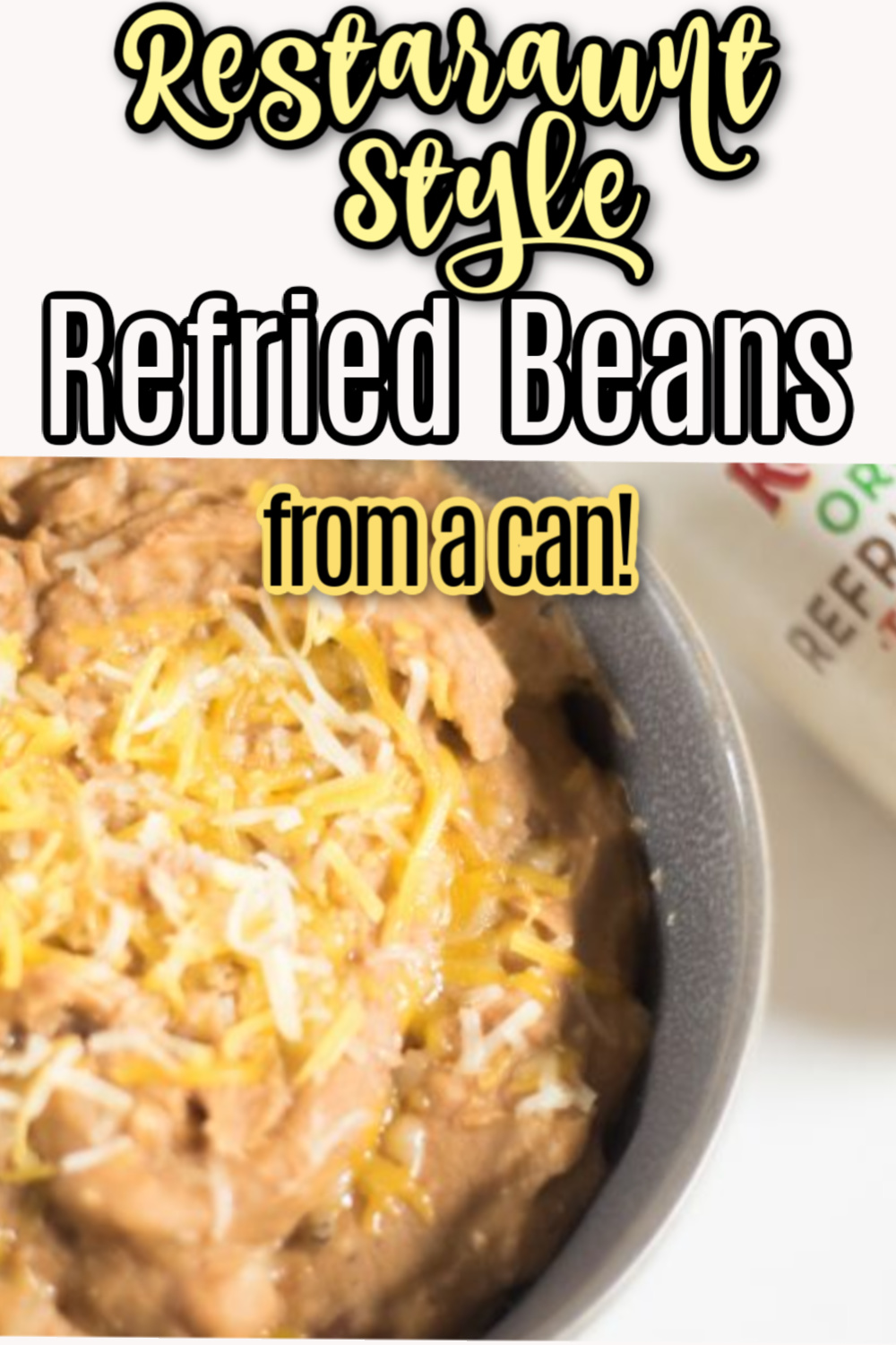 How to make canned refried beans taste better and like they are restaurant-style beans! via @simplysidedishes89