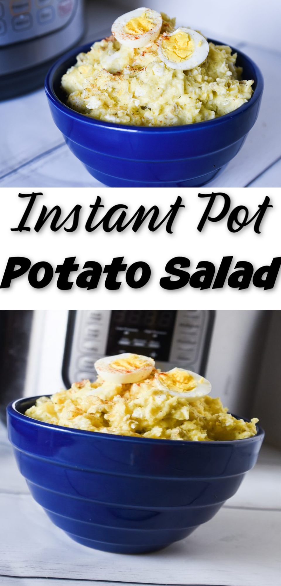 Instant Pot Potato Salad is the EASIEST way to make a potato salad recipe - it is so so delicious, too. This includes a mustard dressing recipe, but the technique can be used for anything! via @simplysidedishes89