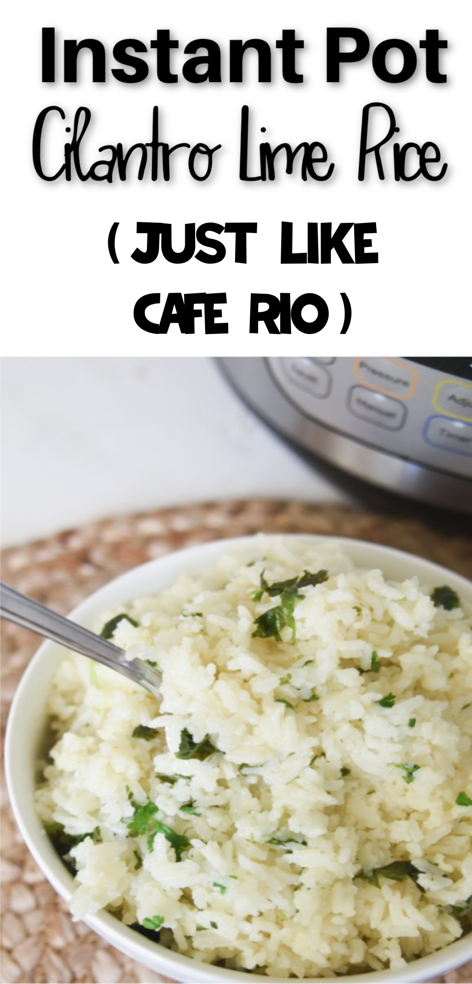 Cilantro Lime Rice is a flavorful side dish that is always a hit. You can make Instant Pot rice which makes it quick and easy! This Copycat Cafe Rio Cilantro Rice is to DIE for! via @simplysidedishes89