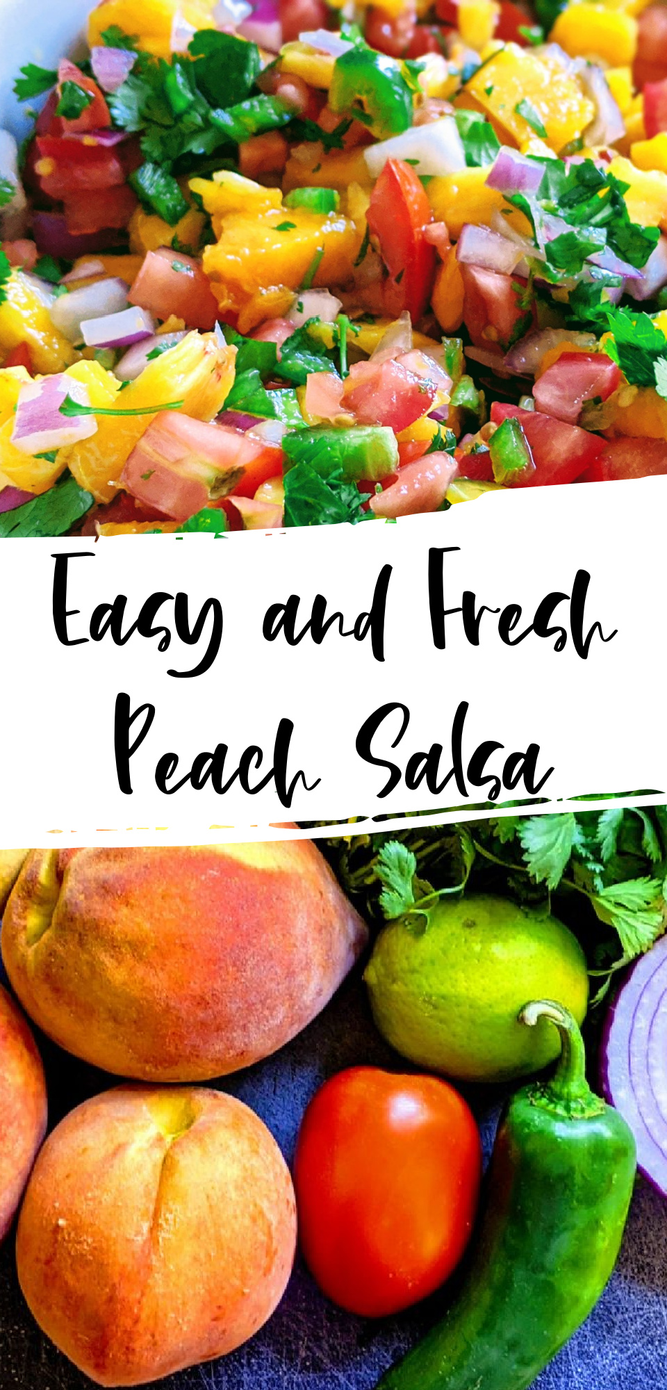 Whether you have millions of peaches sitting in your kitchen or you just enjoy a good peach now and again, this fresh peach salsa will be a recipe that you want to make over and over again. It's perfect for dipping with chips or topping fish, tacos, and chicken with! via @simplysidedishes89