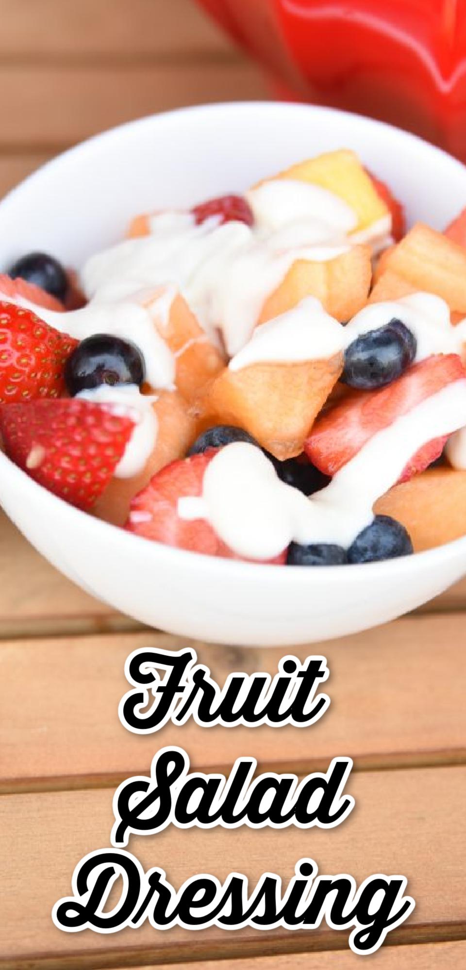 Fruit Salad Dressing via @simplysidedishes89