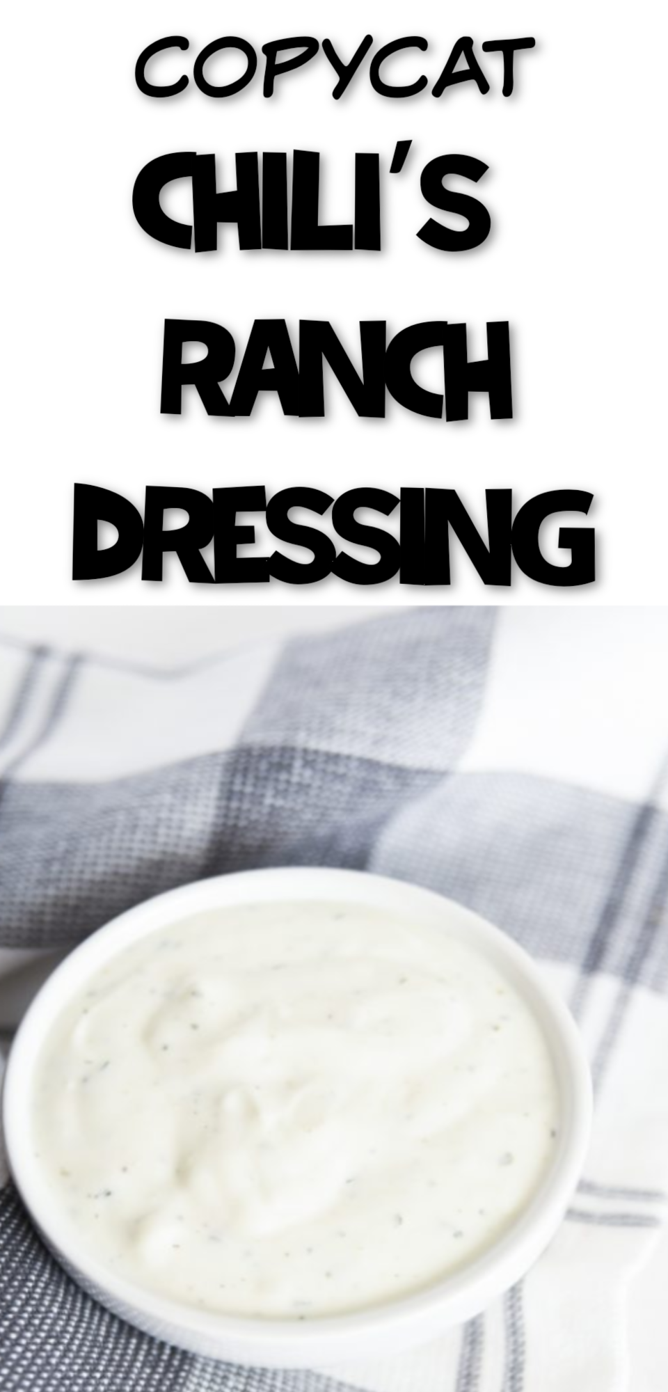 Copycat Chili's Ranch Dressing Recipe via @simplysidedishes89