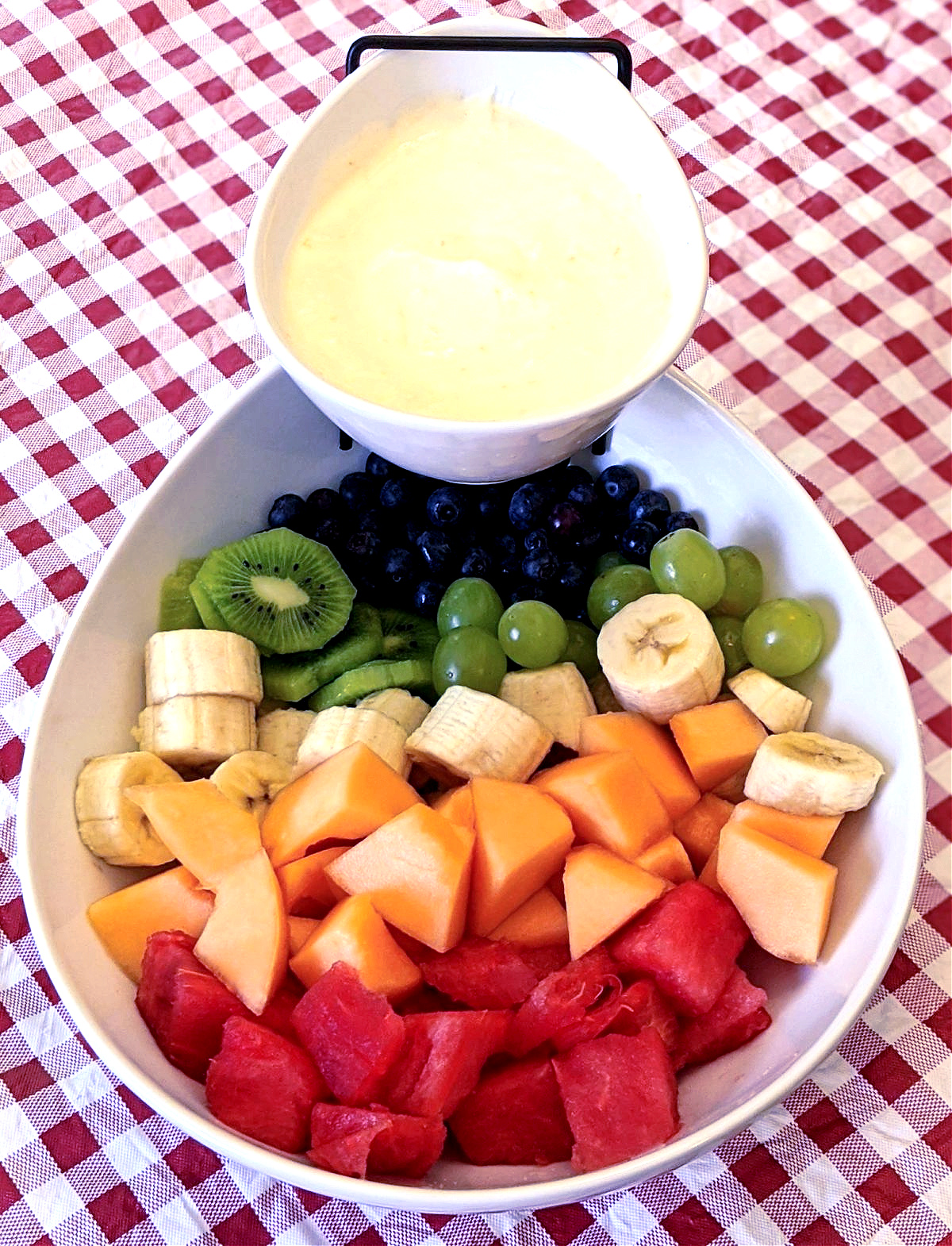 fruit salad with fruit dip