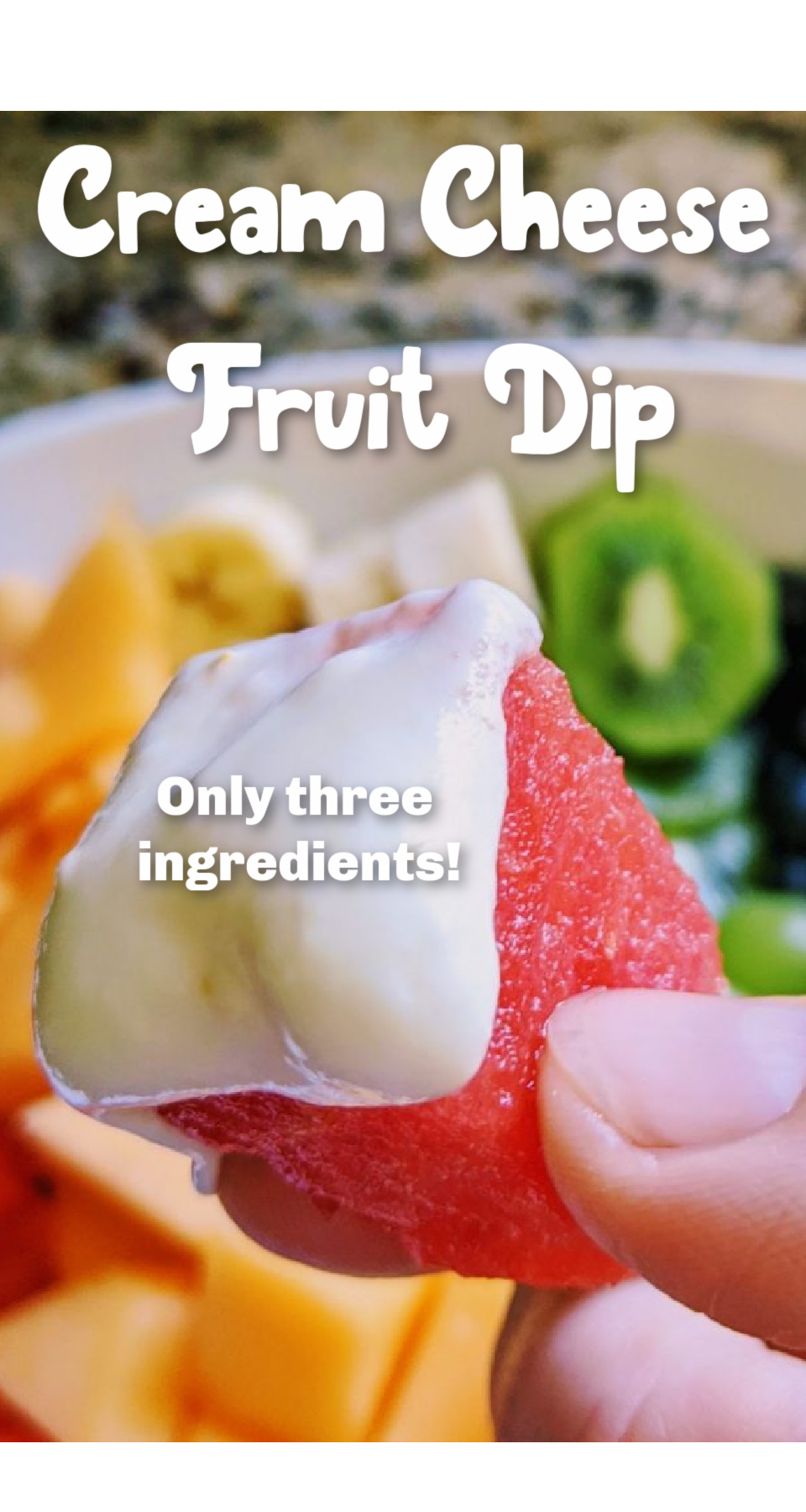 An easy, 3 ingredient fruit dip with cream cheese and marshmallow fluff. This is such an easy fruit dip dressing or dip! via @simplysidedishes89