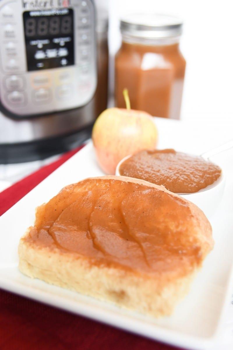 apple butter on sourdough bread