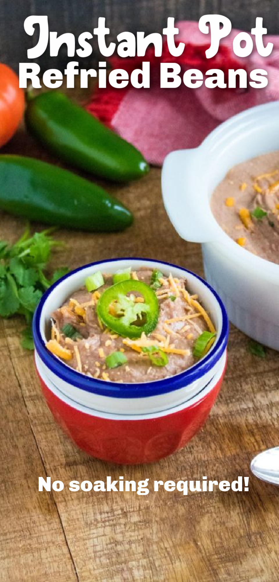 Who doesn't love refried beans? Here is an easy, Instant Pot refried bean recipe. They are so simple to throw together, and they pack in some great flavor. via @simplysidedishes89