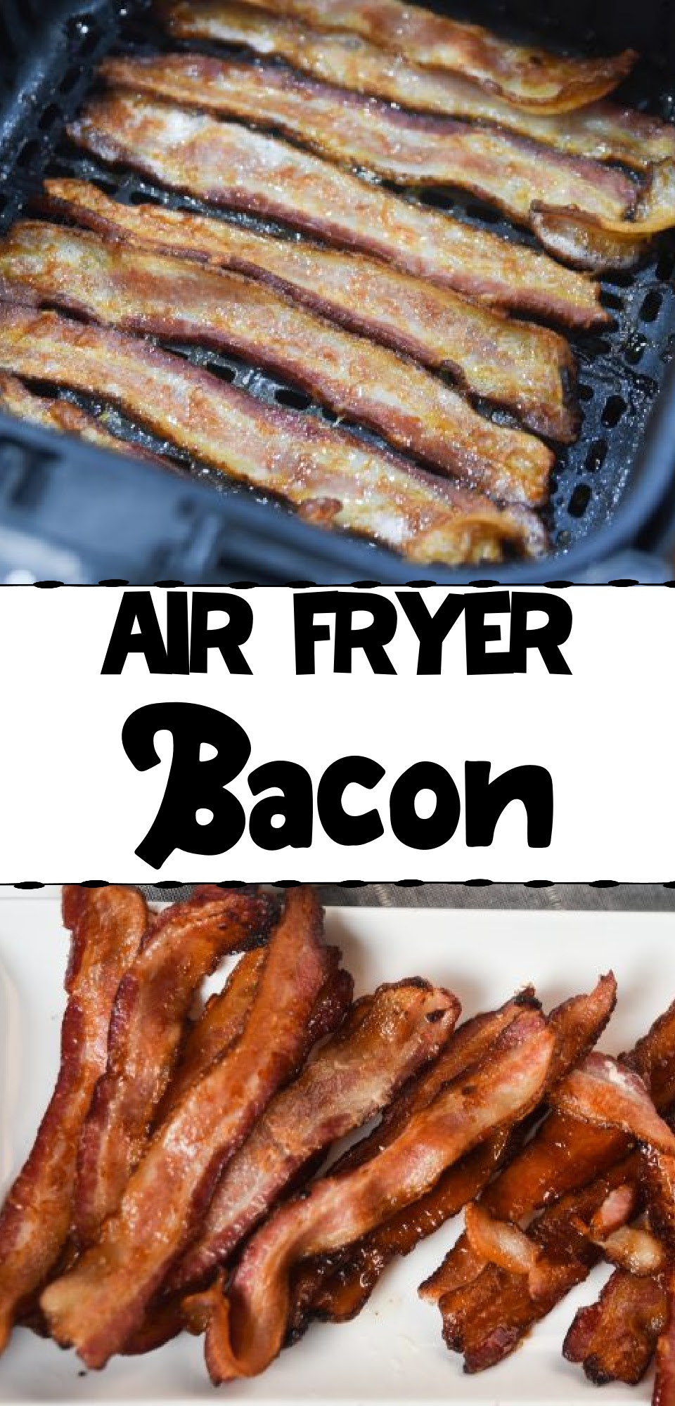 This is hands down the easiest way to cook bacon! In the Air Fryer, you can make perfect, crispy bacon in just 10 minutes with quick and easy cleaning! via @simplysidedishes89