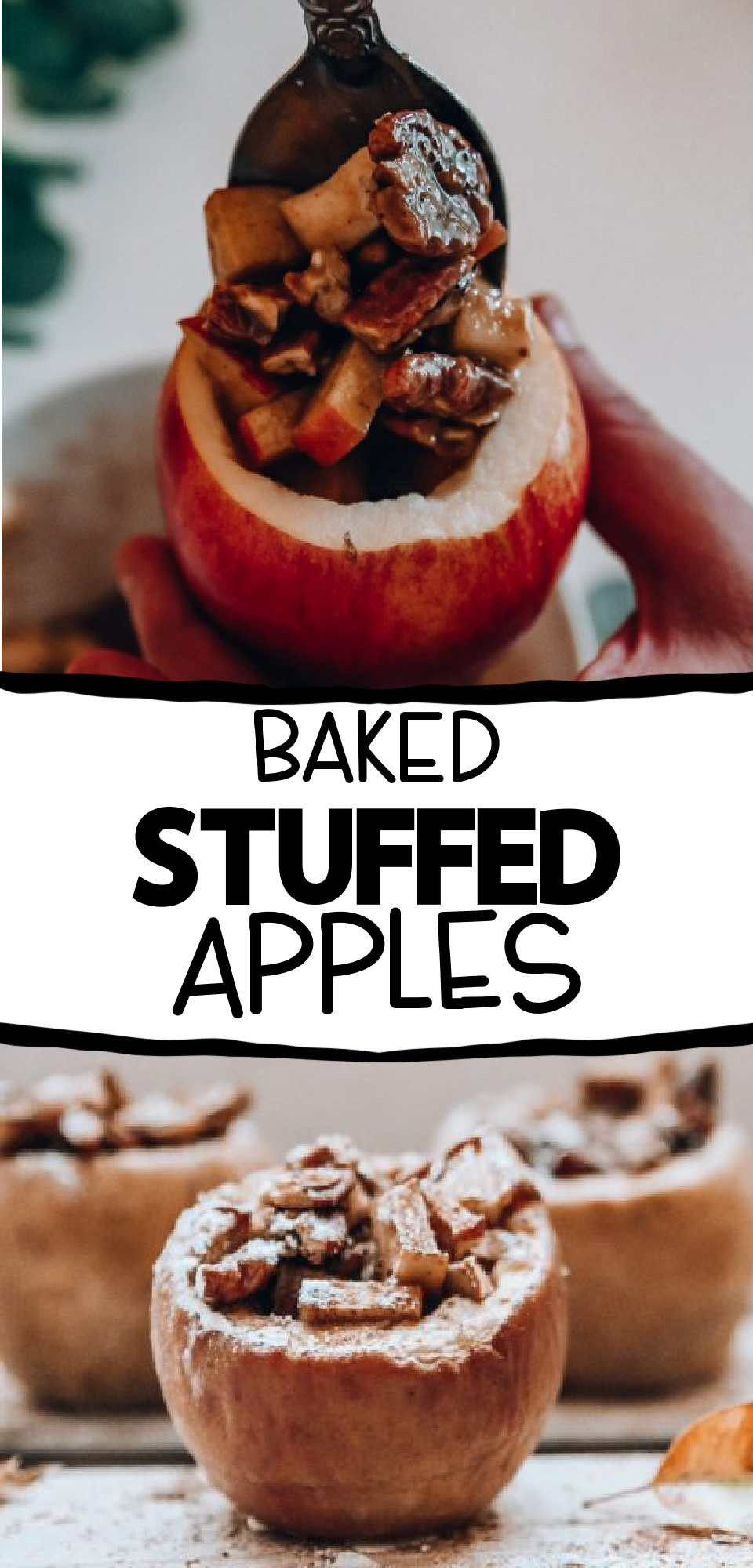 This easy and delicious stuffed apple recipe is a fun twist to the fall fruit that everyone loves during the colder months. Stuff your apples with cinnamon and pecans to make an easy fall dessert. via @simplysidedishes89