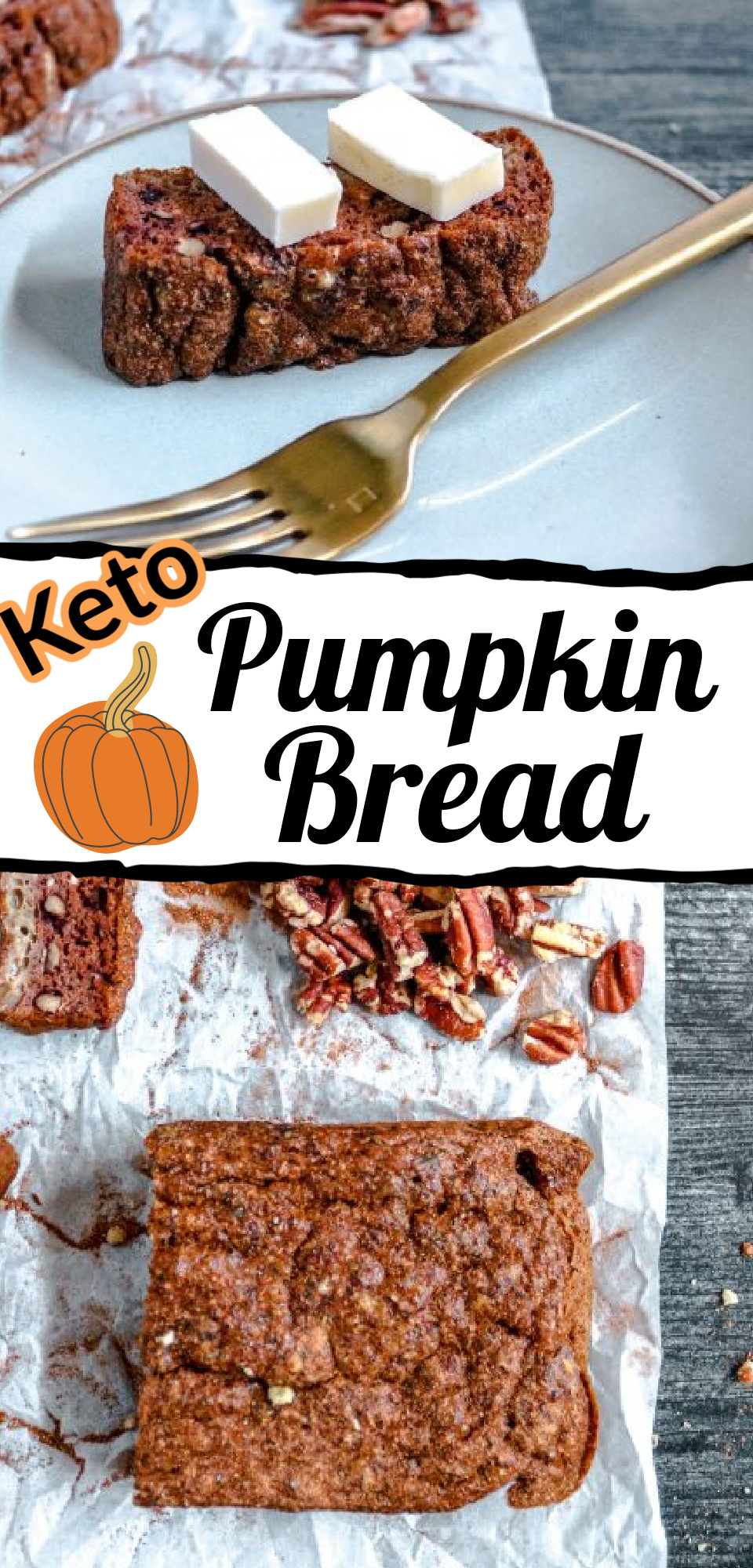 This keto pumpkin bread is simple and absolutely delicious. It only has four ingredients! via @simplysidedishes89