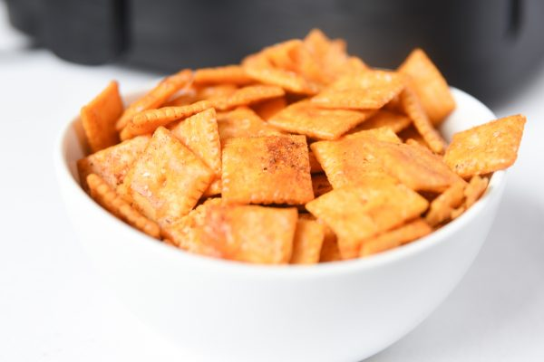 air fryer cheezit's in bowl
