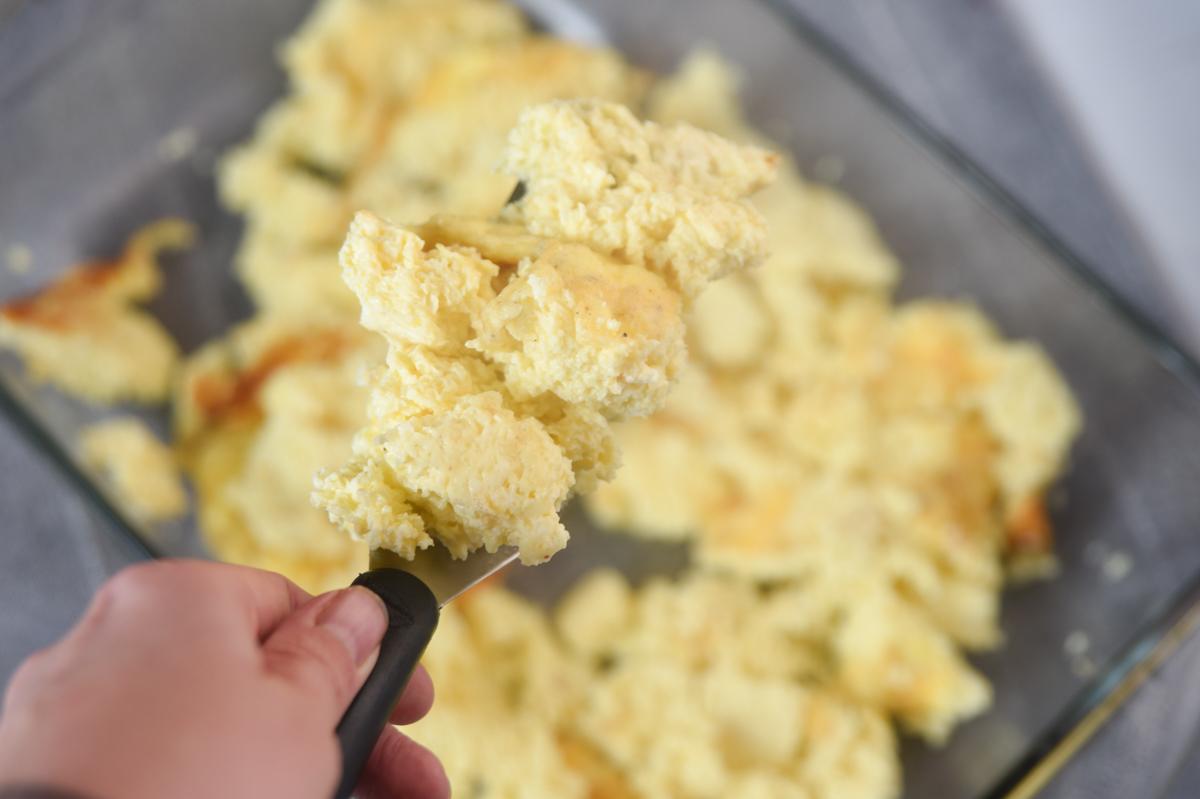 lots of scrambled eggs