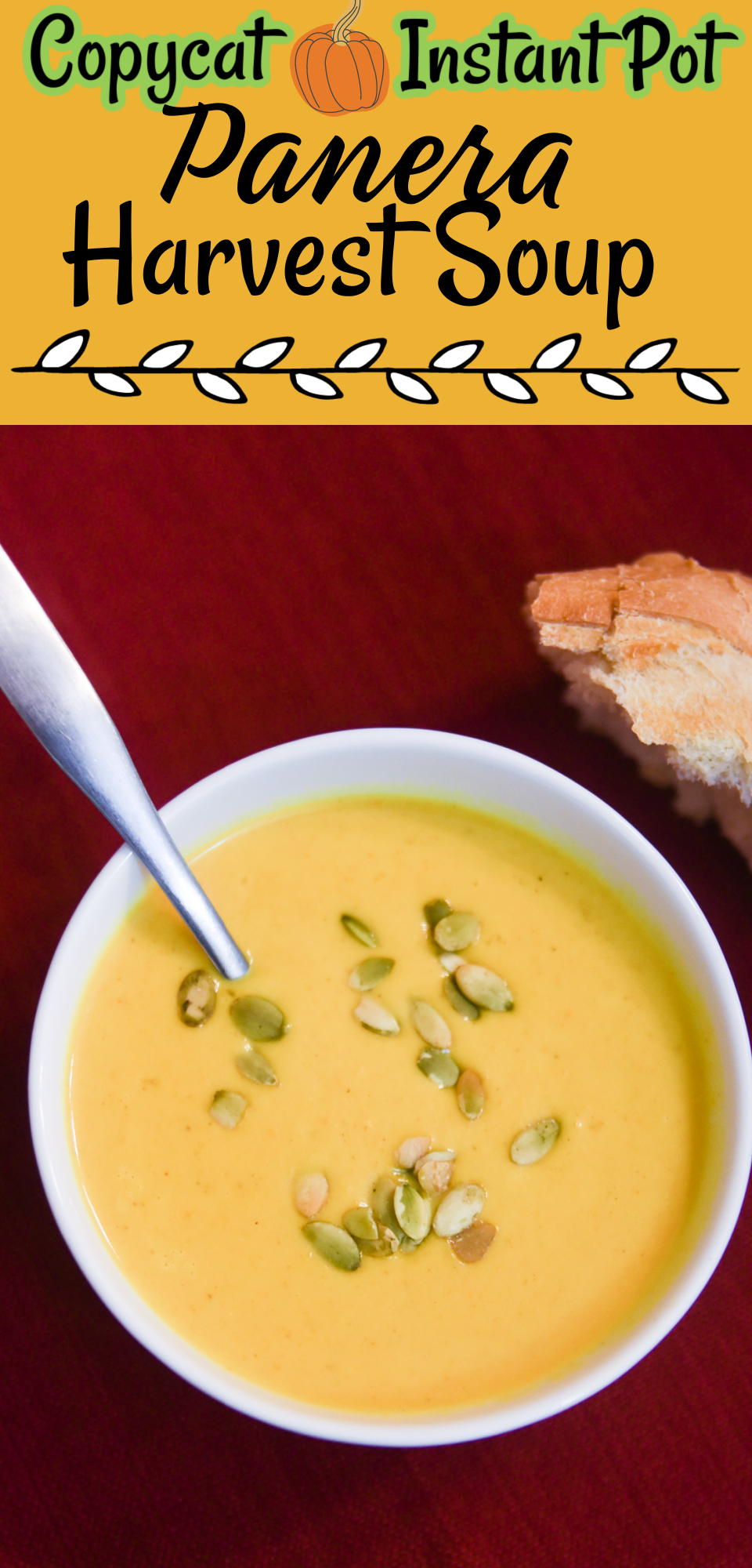 As the weather gets colder in the fall, nothing feels better than creamy Panera autumn squash soup. This Instant Pot soup recipe can be made in one pot for easy cleaning. Warm your soul and your home with Panera Harvest Soup. via @simplysidedishes89