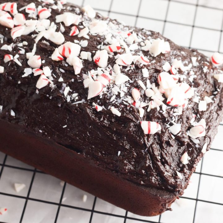 Chocolate Peppermint Pound Cake