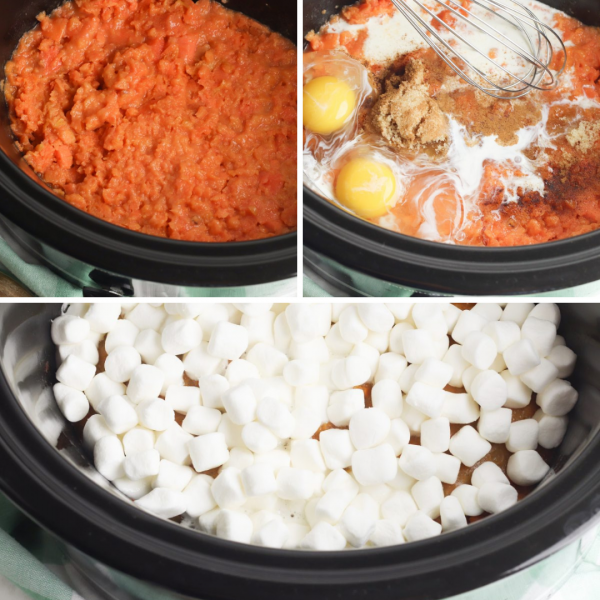 slow cooker sweet potato casserole instructions