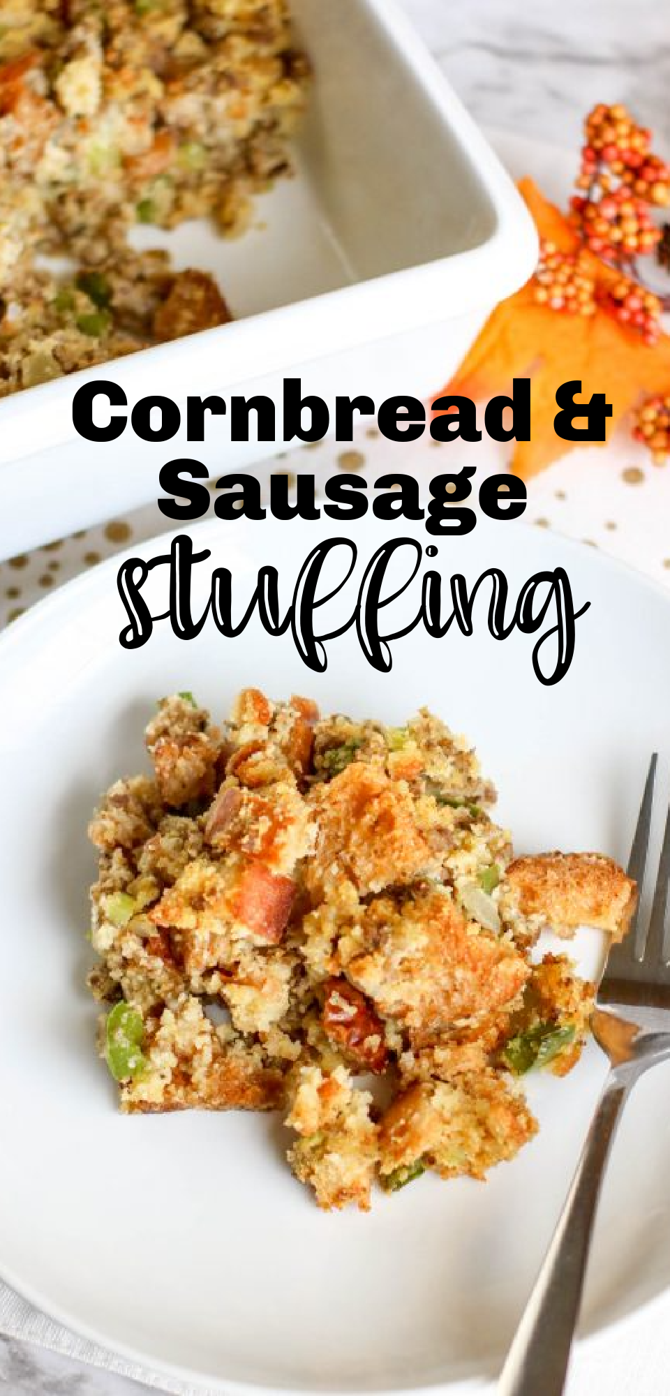 Want to level up your dressing game? This cornbread based dressing with sausage is so savory and addicting. It's perfect for family dinner. via @simplysidedishes89
