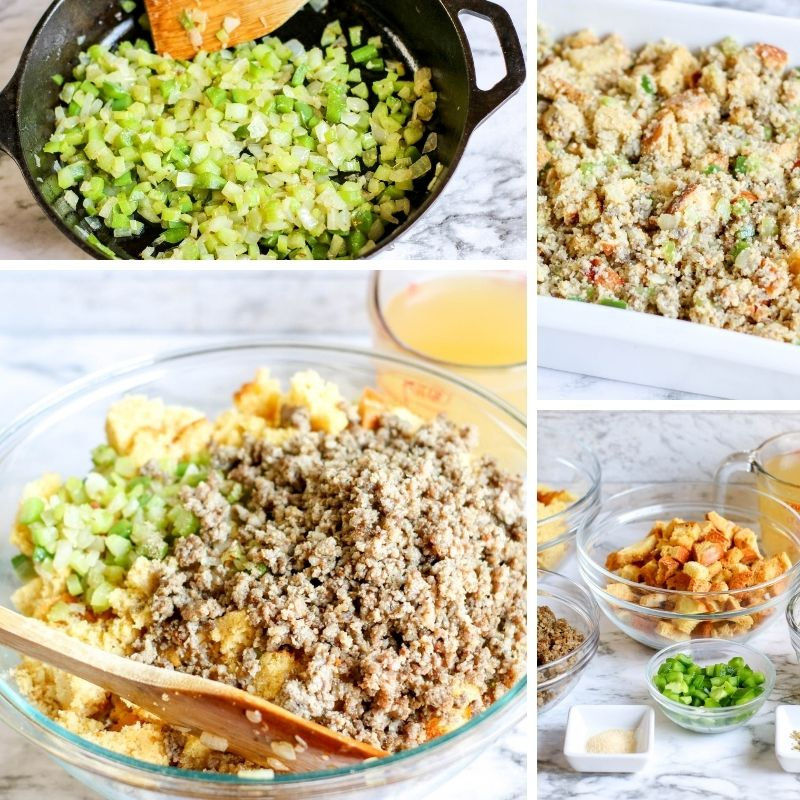 cornbread stuffing step by step