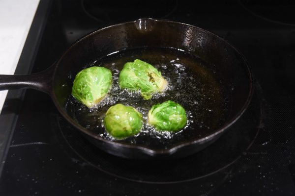 frying brussel sprouts