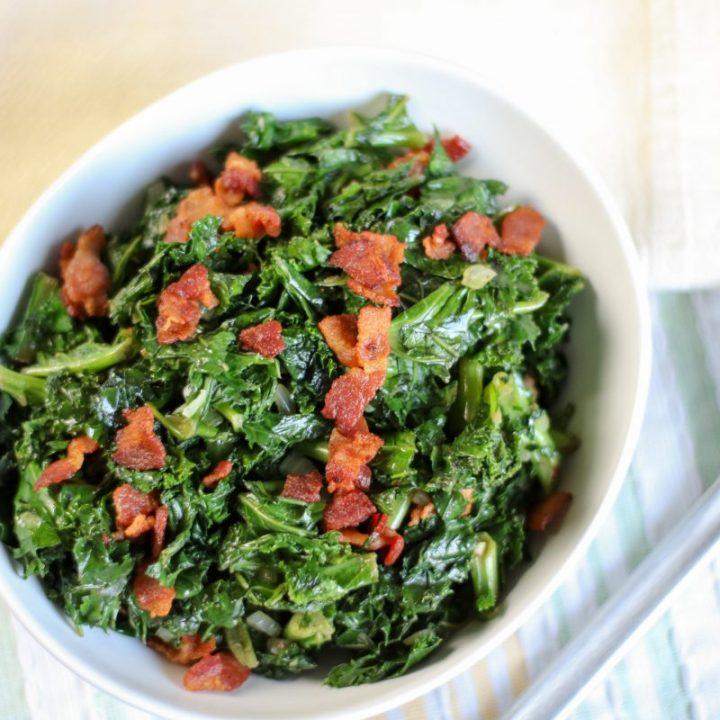 bacon garlic kale