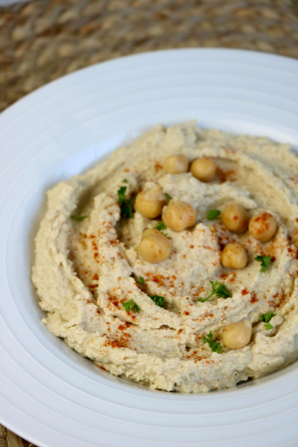 instant pot hummus in a bowl