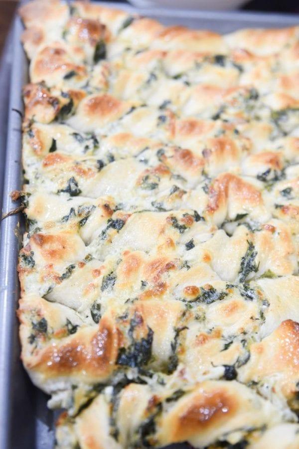 spinach breadsticks
